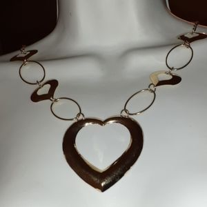 Heart Necklace Hoops & Hearts